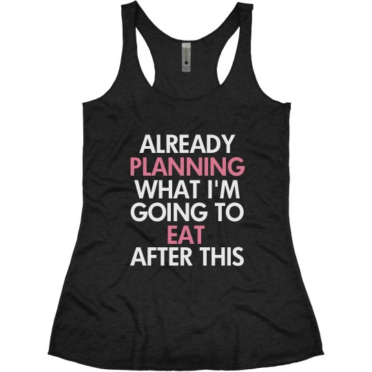 a209029c661db7 Funny Workout Tanks Ladies Slim Fit Super Soft Racerback Triblend Tank Top