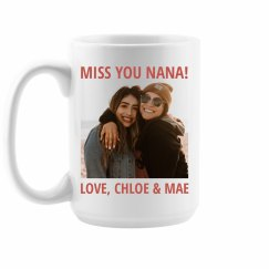 Miss You Nana Gift With Photo