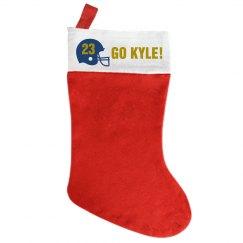 Kyle's Football Stocking