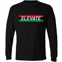 Elevate Long Sleeve Tee- Blk History Tee