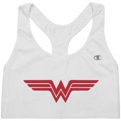 Wonder Woman Spoof Sports Bra