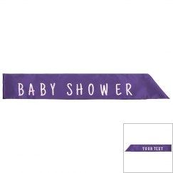 Baby Shower Silk Sash