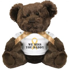 Miss You Military Teddy