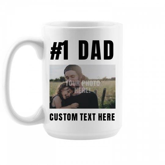 #1 Dad Custom Photo Upload Gift
