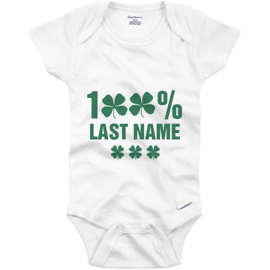 100% Irish Baby St. Patrick Onesie