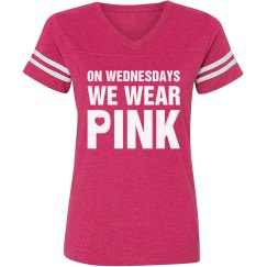 Football Girl Wears Pink