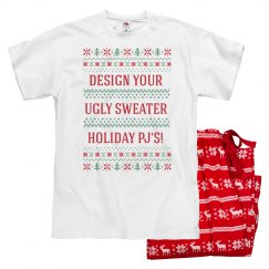 Custom Holiday Sweater Pattern Pajamas