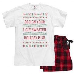Lady's Custom Text Sweater Pajamas