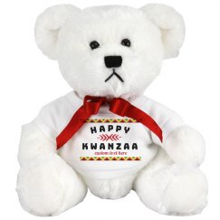 Happy Kwanzaa Stuffed Bear