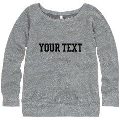 Custom Wideneck Sweater