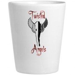 Twisted Angels Shot Glass