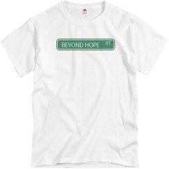 Beyond Hope street sign