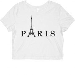 Eiffel Tower Crop Top