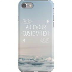 Custom Sky Print iPhone Case