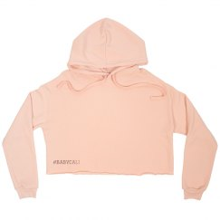 PINK #BABYCALI CUSTOMIZABLE cropped fleece hoodie