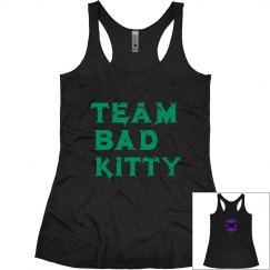 Distressed Green Team Name tank with logo