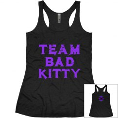 Purple Team Name Super soft Tank with kitty logo