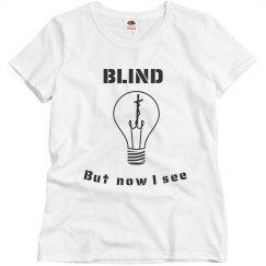 Misses Blind Tee Lt.Blue