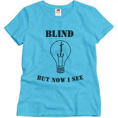 Misses Blind Tee Lt.Blue