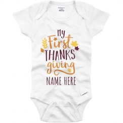 Custom Name My 1st Thanksgiving