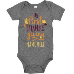 My 1st Thanksgiving Custom Baby