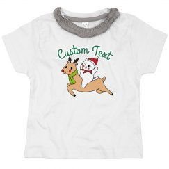 Custom Text Cat & Reindeer Toddler Tee