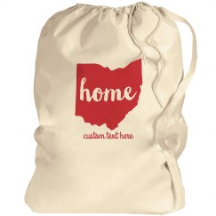 Home in Ohio Custom Laundry Bag
