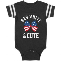 This Baby Is Red White And Cute
