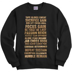Fighters Heart Sweater