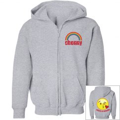 Camp rainbow & emoji sweatshirt