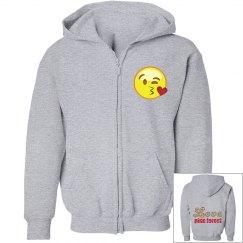 Girls Camp Emoji love sweatshirt