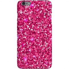 Pink Glitter Iphone 6 Snap Case