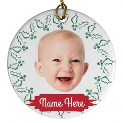 Add Your Photo Custom Baby Ornament