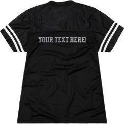 Metallic Custom Slub Text Design