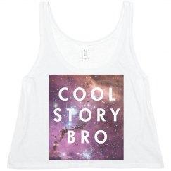 cool story bro crop-top