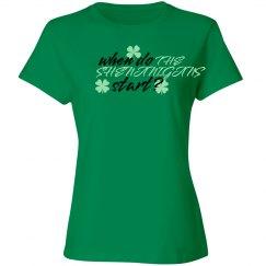 When do the shenanigans start? Irish party shirty
