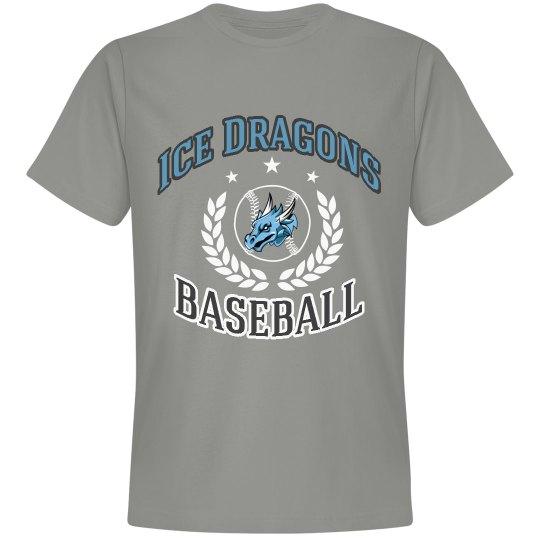 #10-Unisex Reg.Tee-Next Level Brand-Gray Baseball