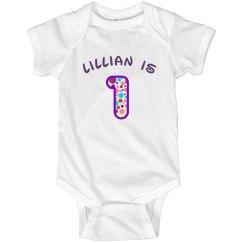 Lillian is 1