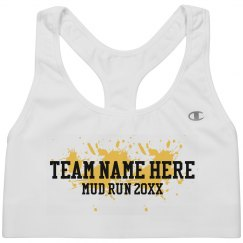 Mud Run Custom Team Sports Bra