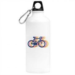 Tri Color Bike Water Bottle