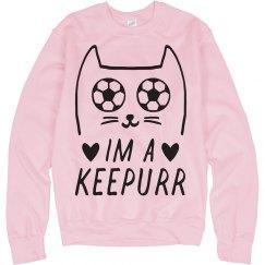 I'm A Keepurr Soccer Goalie Cat