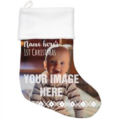 Baby's 1st Photo Christmas Stocking