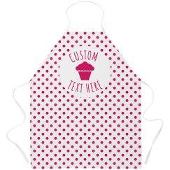 Polka Dot Cupcake Bakery Apron