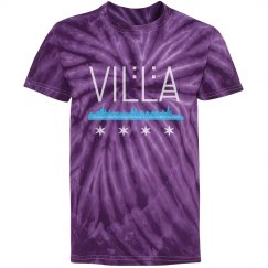 Youth Villa Chicago Skyline-Flag Tie Dye Tee