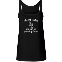Keep Calm Flip Flops - tank red