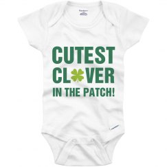 St Patricks Day Cute Clover Baby