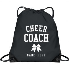 Customizable Cheer Drawstring Bag