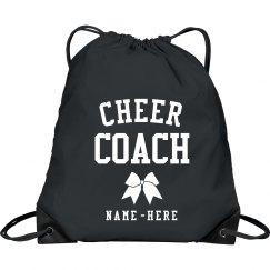 Customizable Cheer Drawstring Bag