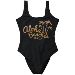 Gold Metallic Aloha Beaches