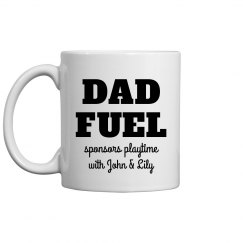 Dad Fuel Funny Custom Father's Day Mug